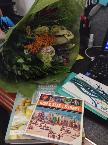 Wonderful birthday gifts from colleagues